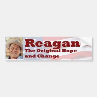 Reagan - Original Hope and Change Bumper Sticker Car Bumper Sticker