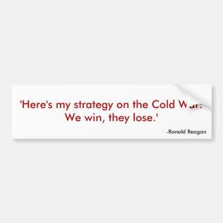 Reagan Quote 1 Car Bumper Sticker