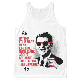 Reagan Quote - Four Wars in my Lifetime - -.png All-Over Print Tank Top