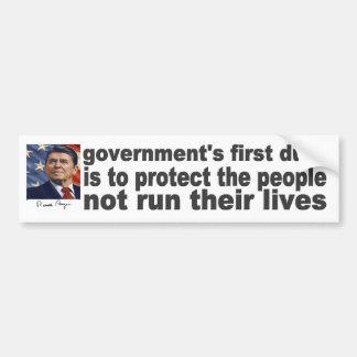 Reagan Quote Government's First Duty Bumper Sticker