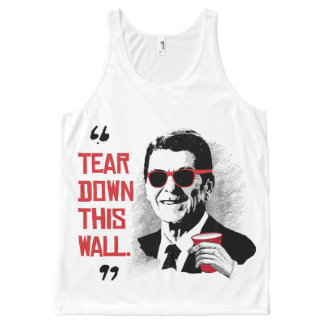 Reagan Quote - Tear Down This Wall - -.png All-Over Print Tank Top