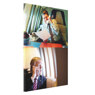 Reagan & Trump On Air Force One Canvas Print