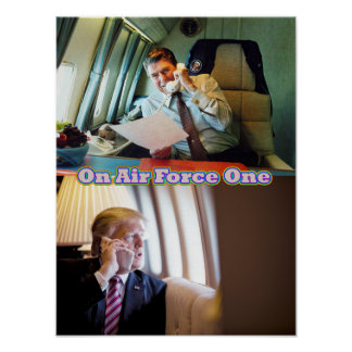 Reagan & Trump On Air Force One Poster