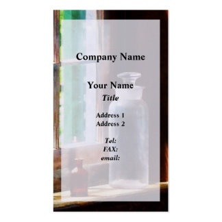 Reagent Bottle and Small Brown Bottle Business Card Templates
