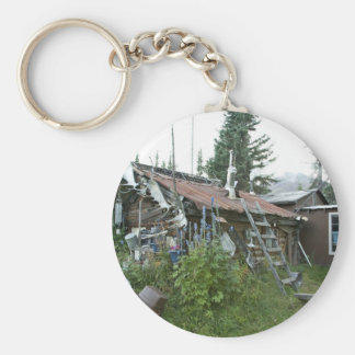 Reakoff cabin Wiseman, On the Koyukuk River Basic Round Button Key Ring