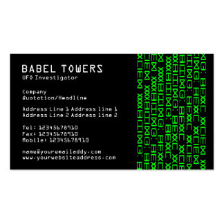 Real Alien Writing Business Card Template