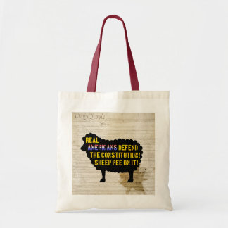 Real Americans Defend the Constitution... tote bag