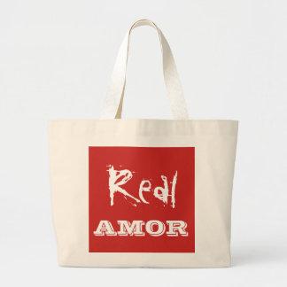 Real amor tote bag