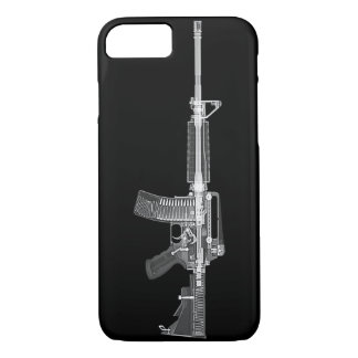 Real AR-15 CT SCAN FROM GUN HIGH DETAIL X-RAY iPhone 7 Case