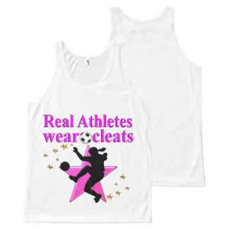 REAL ATHLETES PLAY SOCCER DESIGN All-Over PRINT TANK TOP
