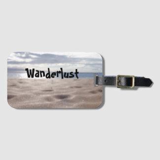 Real beach photo luggage tag (Wanderlust)