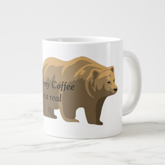 Real Bear Large Coffee Mug