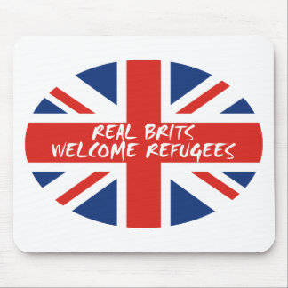 Real Brits Welcome Refugees Mouse Pad