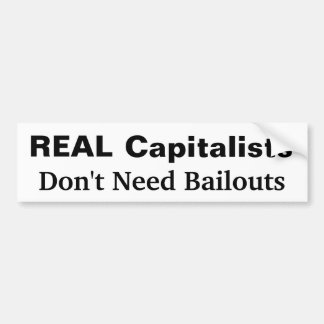 Real Capitalists Bumper Sticker