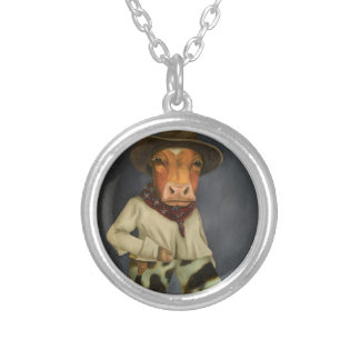 Real Cowboy 2 Silver Plated Necklace
