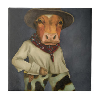Real Cowboy 2 Small Square Tile