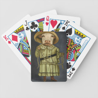 Real Cowgirl 2 Bicycle Playing Cards