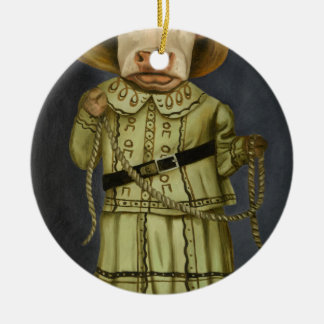 Real Cowgirl 2 Ceramic Ornament