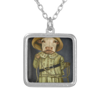Real Cowgirl 2 Silver Plated Necklace