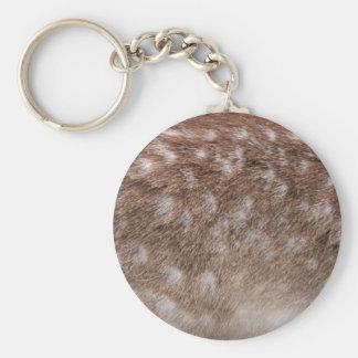Real Deer Fur Photo Sampling Wildlife Gift Basic Round Button Key Ring