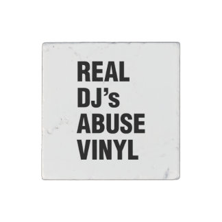 REAL DJ's ABUSE VINYL Stone Magnet