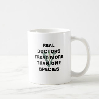 Real Doctors Treat More Than One Species Basic White Mug