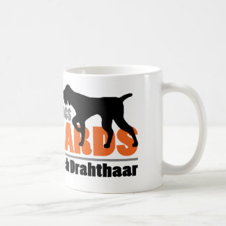 Real Dogs Have Beards - Deutsch Drahthaar Coffee Mug