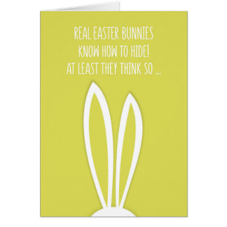 Real Easter bunny funny Easter Card