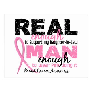 Real Enough Daughter-In-Law 2 Breast Cancer Postcard