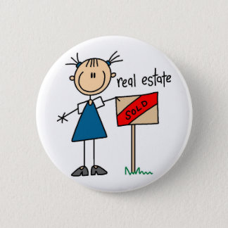 Real Estate Agent 6 Cm Round Badge