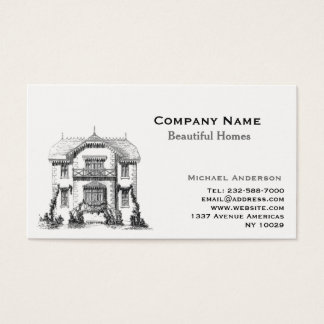 Real estate agent and home remodelling business card