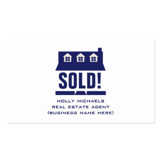 Real Estate Agent - Blue Cape Style House Pack Of Standard Business Cards