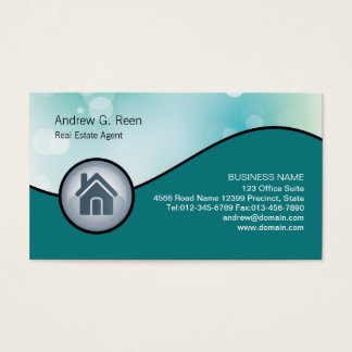 Real Estate Agent Business Card Glossy House Icon