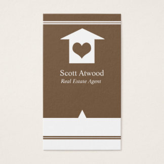 Real Estate Agent Business Cards Brown White