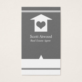 Real Estate Agent Business Cards Gray Grey