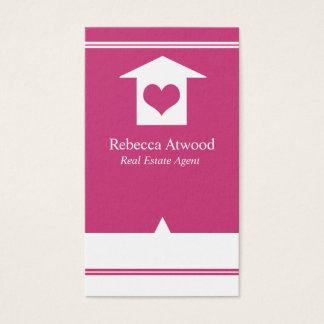 Real Estate Agent Business Cards Hot Pink