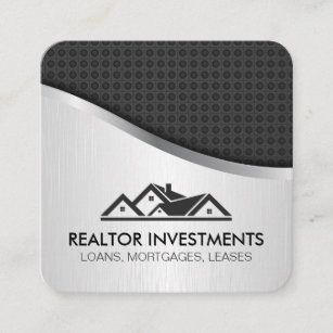 Operator business cards business card printing zazzle real estate agent carbon fibre metallic square business card reheart Gallery