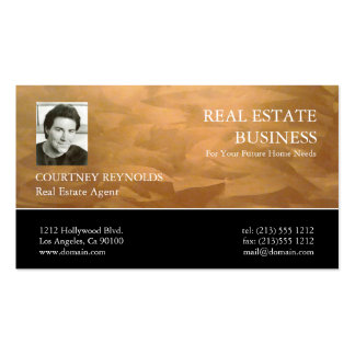 Real Estate Agent Copper Business Cards