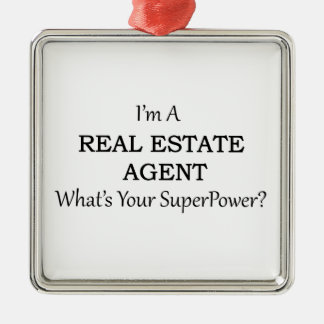 REAL ESTATE AGENT METAL ORNAMENT