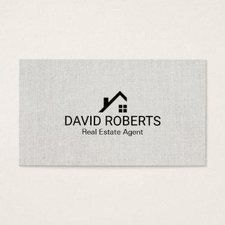 Real Estate Agent Modern Home Logo Classy Linen