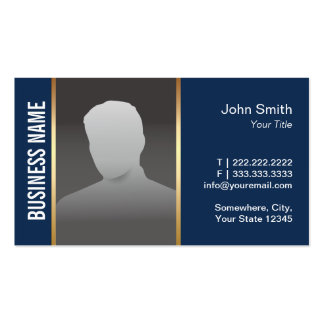 Real Estate Agent Modern Navy Blue Photo Pack Of Standard Business Cards