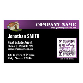 Real estate agent pack of standard business cards