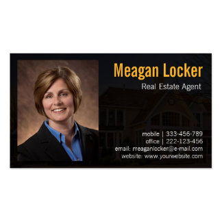 Real estate agent photo with house background pack of standard business cards