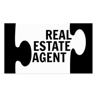 Real Estate Agent Puzzle Piece Business Card