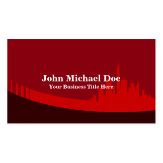 Real Estate Agent Red City Skyline Pack Of Standard Business Cards