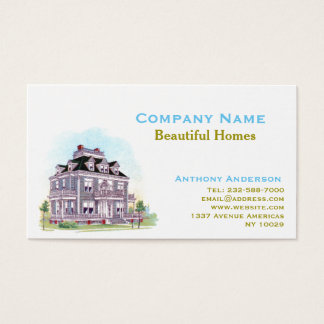 Real estate agent, remodelling and architecture business card