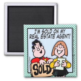 Real Estate Agent Square Magnet