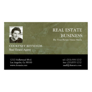 Real Estate Agent Tuscan Green Business Cards