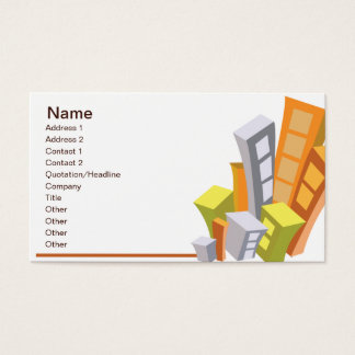 Real Estate - Business Business Card
