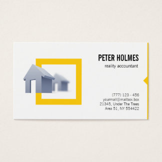 Real estate business card for reality accountant
